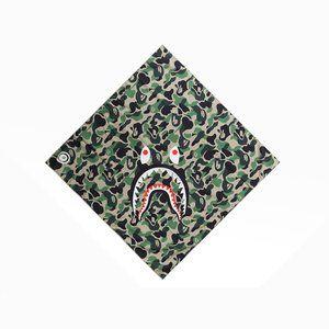 Bape ABC Shark Bandana Green Camo